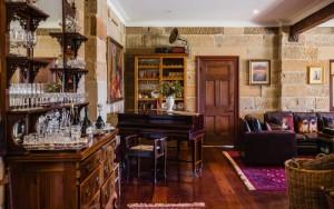 Piano and liquor bar